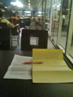 work in a restaurant