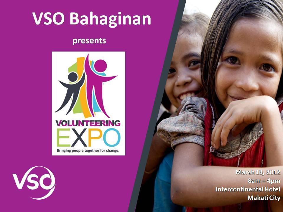 VSO Bahaginan Volunteering Expo