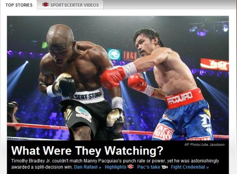 Pacquiao Bradley Fight June 2012