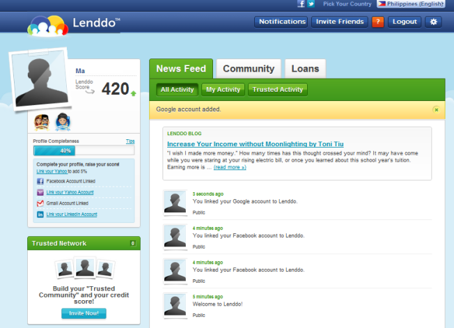 lenddo dashboard