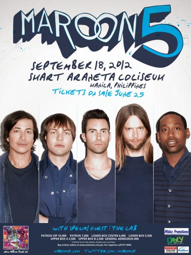 maroon 5 concert poster