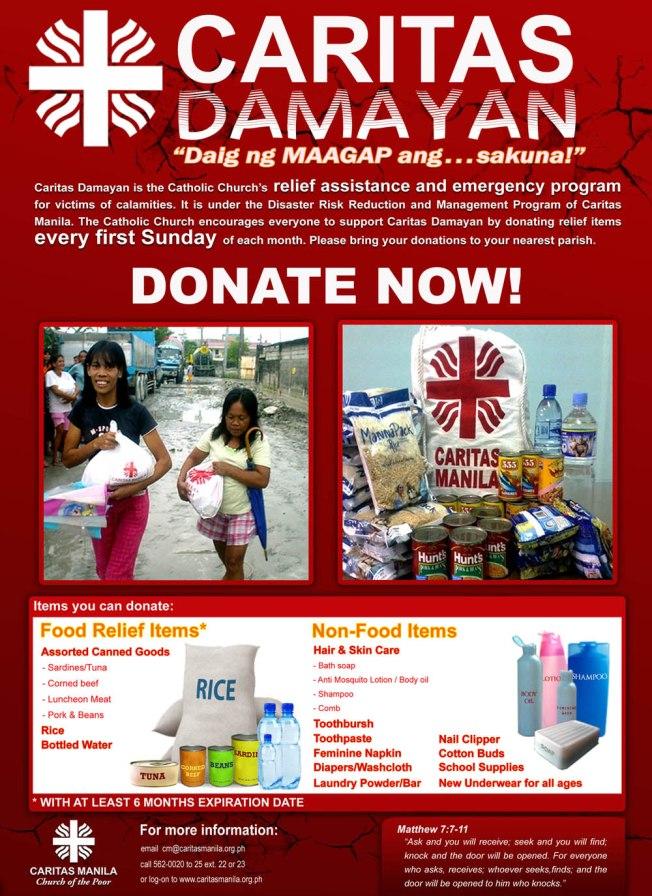 Caritas Damayan poster
